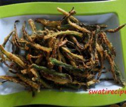 crispy bhindi fry recipe