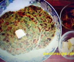 Palak paratha recipe in Hindi