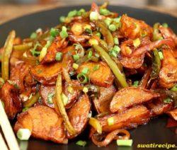 Chilli potato recipe in Hindi